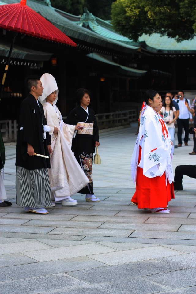 Traditional wedding at Meiji-Jingu