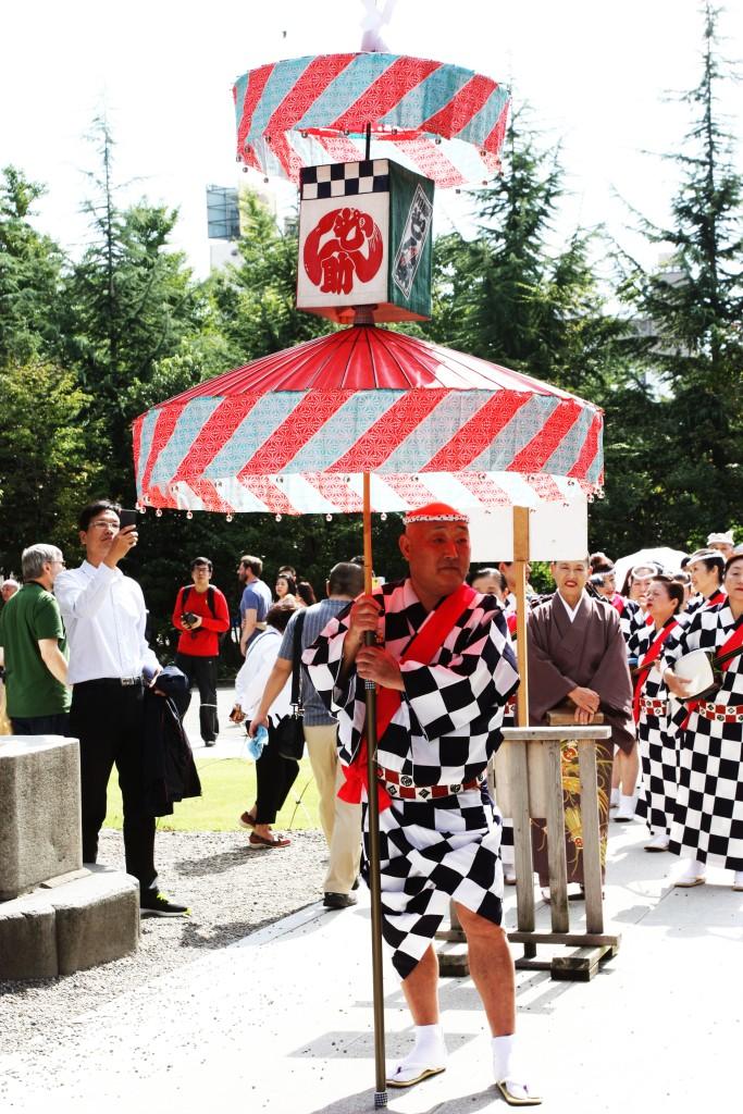 Traditional musicians near Senso-ji